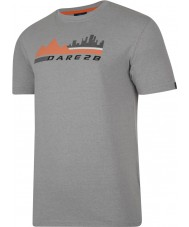 Dare2b DMT145-81I90-XXL Mens City Scene Ash Grey Marl T-Shirt - Size XXL