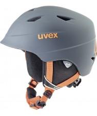 Uvex 5661325803 Airwing Pro Titanium Orange Ski Helmet - 52-54cm