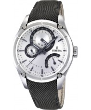 Festina F16767-1 Mens Black Leather Strap Multifunction Watch