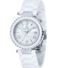 Klaus Kobec KK-10005-01 Ladies Venus White Ceramic Watch