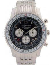 Krug Baümen 600303DS Mens Air Traveller Diamond Watch