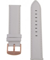 Charles Conrad CDA1006-18-L25 White Leather Strap