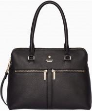 Modalu MH6166-BLACK Ladies Pippa Black Classic Grab Bag