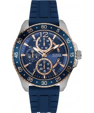 Guess W0798G2 Mens Jet Blue Silicone Strap Watch