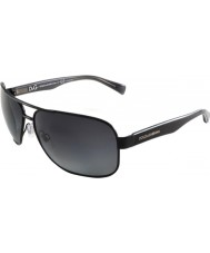 Dolce and Gabbana DG2120P 64 Contrast Black Grey 1169T3 Polarized Sunglasses