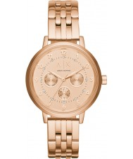 Armani Exchange AX5374 Ladies Sport Rose Gold Plated Chronograph Watch