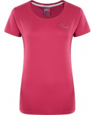 Dare2b DWT337-1Z008L Ladies Impulse Electric Pink T-Shirt - Size UK 8 (XS)