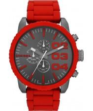Diesel DZ4289 Mens Double Down Black Red Chronograph Watch