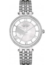 Caravelle New York 43L183 Ladies Glitz White Silver Watch