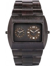 WeWOOD JUPBLACKRS Mens Jupiter Black Wood Bracelet Watch