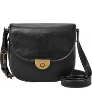 Fossil ZB6851001 Ladies Emi Black Saddle Cross Body Bag