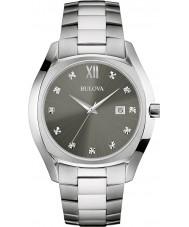 Bulova 96D122 Mens Dress Silver Steel Bracelet Watch