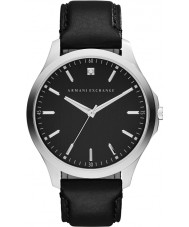 Armani Exchange AX2182 Mens Dress Black Leather Strap Watch