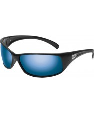 Bolle Recoil Shiny Black Polarized Offshore Blue Sunglasses