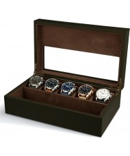 AVI-8 AV-CBOX-04 Mens AVI-8 Khaki Collector Box with 5 Watch Compartments
