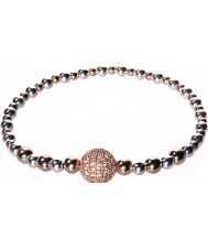 Nevine Crystals BB101 Silver and Rose Gold Plated Bracelet
