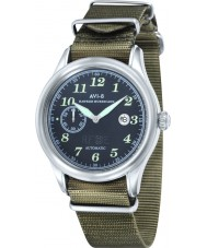 AVI-8 AV-4017-04 Mens Hawker Hurricane Army Green Nylon Strap Watch