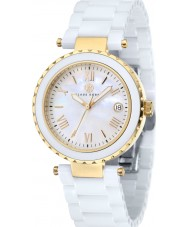 Klaus Kobec KK-10005-02 Ladies Venus Gold and White Ceramic Watch