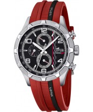 Lotus 15881-2 Mens Marc Marquez Chrono GP Black Red Watch