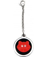 I Puppies PF-001-R Cat Steel and Red Tag For Collar Medallion