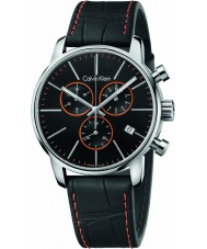 Calvin Klein K2G271C1 Mens City Black Leather Chronograph Watch