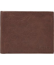 Fossil ML3447200 Mens Ingram Brown Bifold With ID Wallet