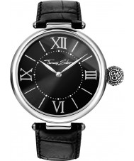 Thomas Sabo WA0260-218-203-38mm Ladies Karma Black Leather Strap Watch