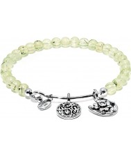 Chrysalis Prehnite Hope Rhodium Plated Expandable Charm Bangle