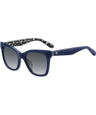 Kate Spade New York Ladies Emmylou-S S4T F8 Blue Sunglasses