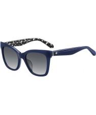 Kate Spade New York Ladies Emmylou-S S4T F8 Blue Sunglasses