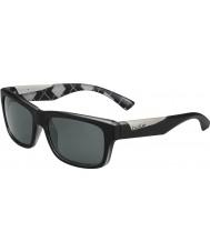 Bolle Jude Matt Black Argyle White Polarized TNS Sunglasses