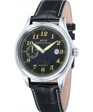 AVI-8 AV-4017-05 Mens Hawker Hurricane Black Leather Strap Watch
