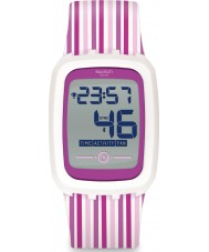Swatch SVQW100 Strawzero Pink Chronograph Watch