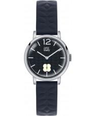 Orla Kiely OK2005 Ladies Frankie Navy Leather Strap Watch
