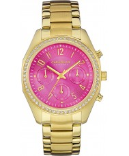 Caravelle New York 44L168 Ladies Melissa Pink Gold Chronograph Watch