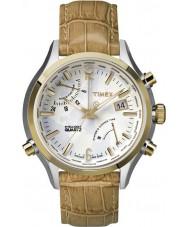 Timex Intelligent Quartz TW2P87900 World Time Tan Leather Strap Watch
