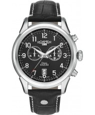 Roamer 540951-41-56-05 Mens Soleure Black Leather Chronograph Watch