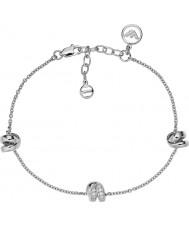Emporio Armani EG3315040 Ladies Stelle Sterling Silver Bracelet