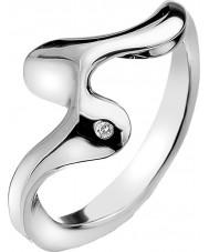 Hot Diamonds DR145-N Ladies Pirouette Silver Tone Ring - Size N