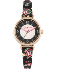 Cath Kidston CKL020BRG Ladies Kew Sprig Black with Floral Print Watch