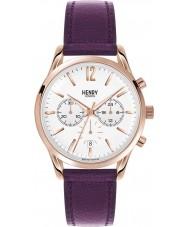Henry London HL39-CS-0090 Ladies Hampstead White Purple Chronograph Watch