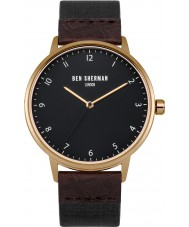 Ben Sherman WB049BRG Mens Portobello Heritage Dark Brown and Black Strap Watch