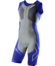 2XU Mens G2 Nautic Blue and Charcoal Compression Trisuit