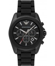 Emporio Armani AR6092 Mens Black IP Chronograph Sports Watch