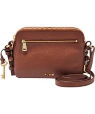 Fossil ZB6865200 Ladies Piper Brown Cross Body Bag