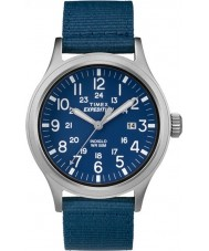 Timex TW4B07000 Mens Scout Blue Fabric Strap Watch