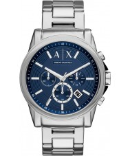 Armani Exchange AX2509 Mens Dress Silver Steel Chronograph Watch