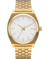 Nixon A045-508 Time Teller Gold Steel Bracelet Watch