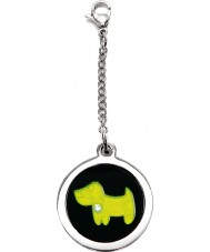 I Puppies PF-002-G Dog Steel and Green Tag For Collar Medallion