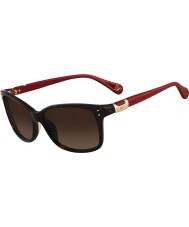 DVF Ladies DVF568S Layla Dark Tortoiseshell Sunglasses